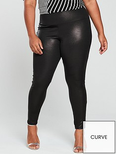 v-by-very-curve-wet-look-control-panel-leggings-black