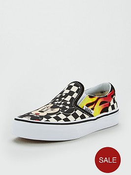 55f8a10b53 Vans Vans Disney Mickey   Minnie Checker Flame Slip-on Children Trainer