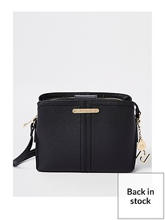 river-island-triple-compartment-chain-crossbody-bag-black