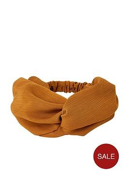 river-island-wide-soft-crepe-headband-rust