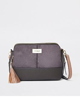 river-island-medium-triple-compartment-bag-grey