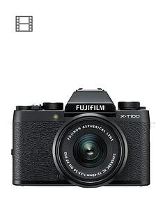 1600287854: Fujifilm Fujifilm X-T100 Black with Black XC15-45mm lens