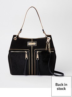 river-island-pocket-front-slouch-bag-black