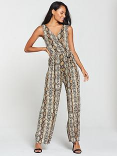 ax-paris-ax-paris-snake-printed-pleated-trouser-jumpsuit