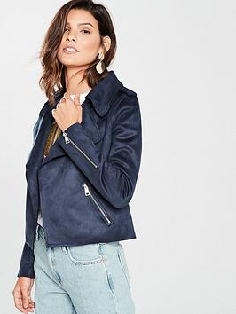Clearance 2018 For Cheap Price Suede Island Crop Navy River Faux Island  River Jacket 100 Authentic Sale Online Cheap Sale Exclusive 1RXgcuMTo