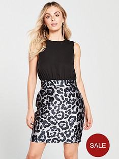 ax-paris-petite-2-in-1-printed-skirt-dress-blacknbsp