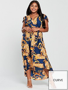 ax-paris-curve-mirror-print-maxi-dress