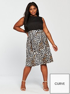 ax-paris-curve-2-in-1-midi-dress-leopard-print