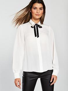 v-by-very-diamanteacutenbspbutton-through-blouse-ivorynbsp