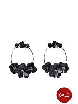 river-island-sequin-flower-hoop-earrings-black
