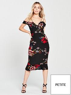 ax-paris-petite-strappy-floral-print-frill-hem-dress-blacknbsp