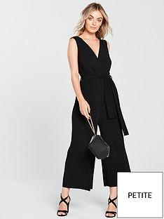 ax-paris-petite-pleated-trouser-slinky-culotte-jumpsuit-black