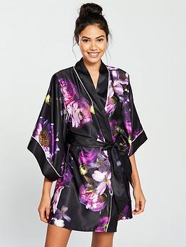 639b9578f5cd7 B By Ted Baker Sunlit Floral Kimono - Black Print ...