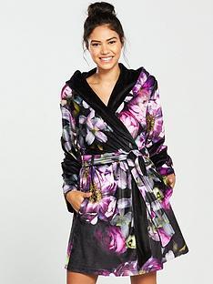 347d8ddd6 B By Ted Baker Sunlit Floral Printed Robe - Black Print