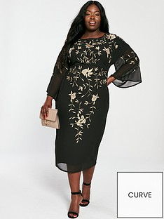 v-by-very-curve-embroidered-kimono-midi-dress