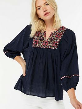 monsoon-dion-embroidered-blouse-navynbsp