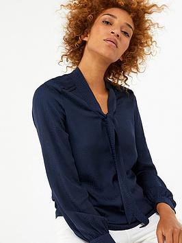 monsoon-leilaninbspneck-tie-blouse-navy