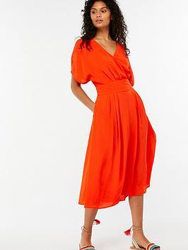 monsoon-alba-wrap-kimono-dress-blood-orange