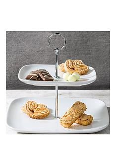 waterside-2-tier-square-white-cake-stand