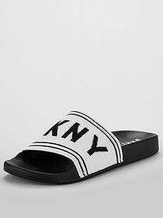 dkny-zora-slide-flat-sandal-white