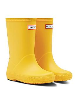 hunter-original-infant-first-classic-wellington-boots-yellow