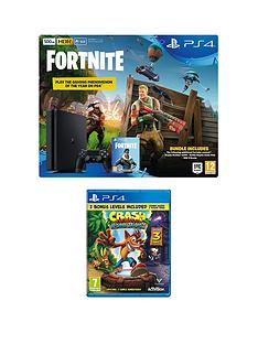playstation-4-ps4-500gb-black-console-with-fortnite-royal-bomber-skin-and-500-v-bucks-with-crash-bandicoot-n-sane-trilogy-and-365-day-psn-subscription