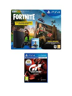 playstation-4-ps4-500gb-black-console-with-fortnite-royal-bomber-skin-and-500-v-bucks-with-gran-turismo-sport-plus-optional-extra-controller-andor-365-day-psn-subscription