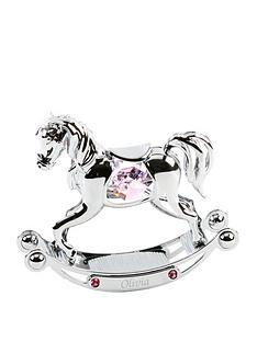 personalised-crystocraft-chrome-plated-rocking-horse-with-crystals-ndash-blue-pink