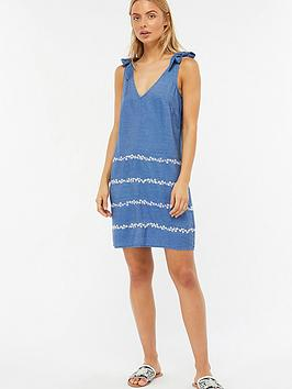 Toma Beach Blue Monsoon  Dress Embellished Cheap 2018 Newest Sast Cheap Online Clearance Shop Countdown Package Sale Online qjzq9qUAU6