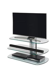 off-the-wall-skyline-100-cm-tv-stand-silverclear-glass--nbspfits-up-to-46-inch-tv