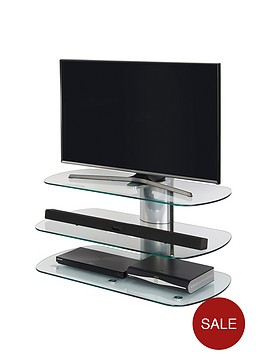 off-the-wall-skyline-100-cm-tv-stand-silverclear-glass--nbspfits-up-to-58-inch-tv