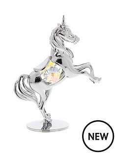 crystocraft-chrome-plated-unicorn-ornament-with-crystal