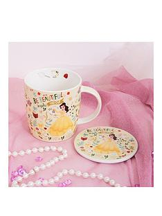 disney-mug-coaster-gift-set-ariel-belle-cinderella-aurora-or-snow-white
