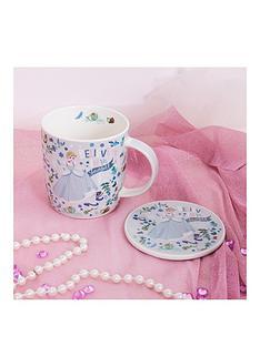 disney-mug-coaster-gift-set-ariel-belle-cinderella-aurora-or-snow-white