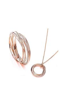 buckley-london-rose-gold-plated-cubic-zirconia-elegance-russian-twist-bangle-amp-necklace-set-with-free-gift-bag