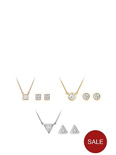 buckley-london-buckley-london-gold-silver-plated-cubic-zirconia-triple-pendant-earrings-set-with-free-gift-bag