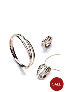 buckley-london-buckley-london-tri-colour-russian-twist-bangle-ring-amp-necklace-set-with-free-gift-bag