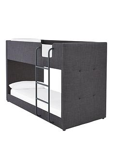 lubananbspfabric-bunk-bed-frame-with-mattress-options-buy-and-save-grey