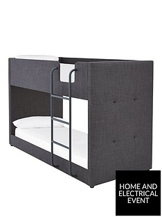 lubananbspfabric-bunk-bed-frame-with-mattress-options-buy-and-save