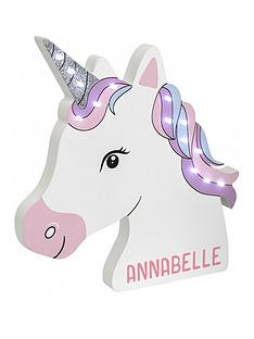 personalised-unicorn-led-wall-light