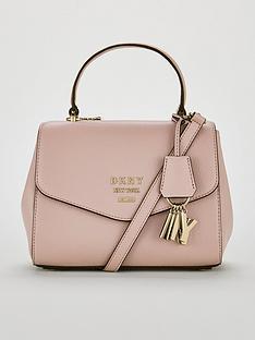 dkny-paige-pebble-top-handle-satchel-bag-pale-pink