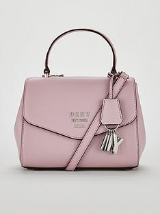 dkny-paige-pebble-top-handle-satchel-bag-pink