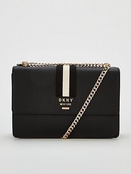 dkny-liza-medium-flap-shoulder-bag-blackgoldnbsp