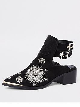 river-island-river-island-embellished-western-backless-boot-black