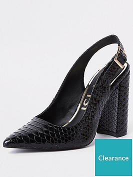 river-island-river-island-croc-sling-back-court-shoes-black