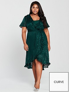 v-by-very-curve-burn-out-spot-wrap-dress-emerald-green