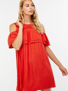 accessorize-double-ruffle-beach-dress-red
