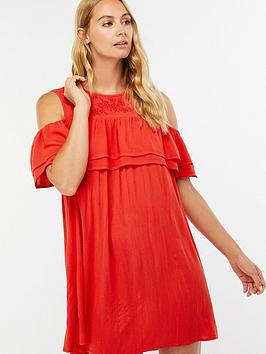 accessorize-double-ruffle-beach-dress-red