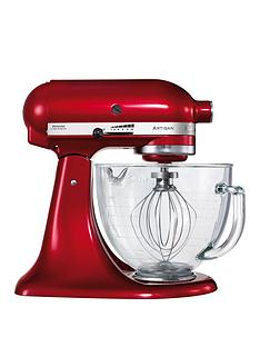 kitchenaid-artisan-candy-apple-stand-mixer-with-glass-bowl-ice-cream-maker-attachment-and-cookbook