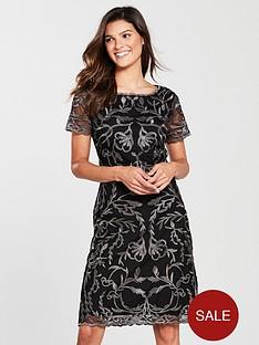 phase-eight-alannah-embroidered-mesh-dress-blackgunmetal